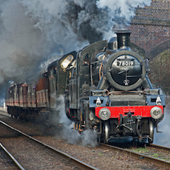 78019 Loughborough drive a steam train locomotive