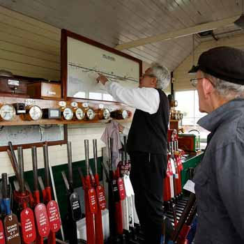 Drive a train experiences in Kent include a visit to the Signal Box