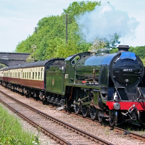 No 30777 driving the Great Central Railway mainline