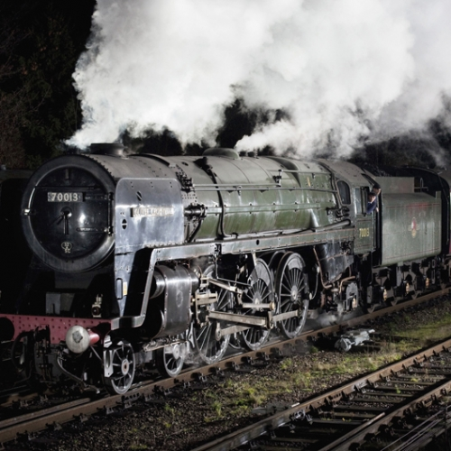 No 70013 Steam Engine Oliver Cromwell on the Great Central Railway