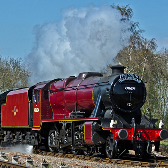 No 8624 Steam Locomotive in full livery glory